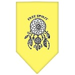 Free Spirit Screen Print Bandana Yellow Small