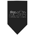 Happy Camper Screen Print Bandana Black Small