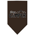 Happy Camper Screen Print Bandana Cocoa Small