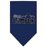 Happy Camper Screen Print Bandana Navy Blue Small