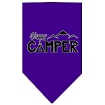Happy Camper Screen Print Bandana Purple Small