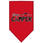 Happy Camper Screen Print Bandana Red Small