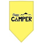 Happy Camper Screen Print Bandana Yellow Small