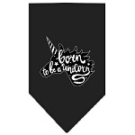 Born to be a Unicorn Screen Print Bandana Black Small