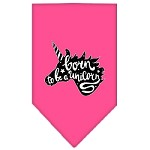 Born to be a Unicorn Screen Print Bandana Bright Pink Small