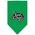 Born to be a Unicorn Screen Print Bandana Emerald Green Small