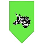 Born to be a Unicorn Screen Print Bandana Lime Green Small