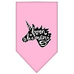 Born to be a Unicorn Screen Print Bandana Light Pink Small