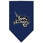 Born to be a Unicorn Screen Print Bandana Navy Blue Small