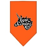 Born to be a Unicorn Screen Print Bandana Orange Small