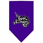 Born to be a Unicorn Screen Print Bandana Purple Small