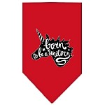 Born to be a Unicorn Screen Print Bandana Red Small