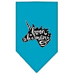 Born to be a Unicorn Screen Print Bandana Turquoise Small