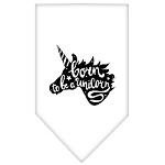 Born to be a Unicorn Screen Print Bandana White Small