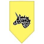 Born to be a Unicorn Screen Print Bandana Yellow Small