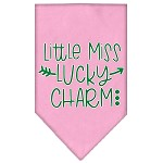 Little Miss Lucky Charm Screen Print Bandana Light Pink Small