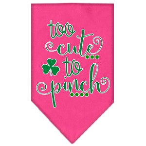 Too Cute to Pinch Screen Print Bandana Bright Pink Large