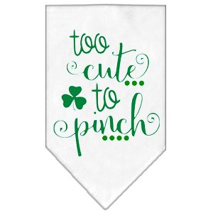 Too Cute to Pinch Screen Print Bandana White Small