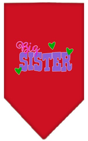 Big Sister Screen Print Bandana Red Small