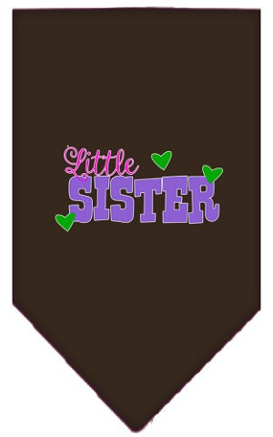 Little Sister Screen Print Bandana Cocoa Small