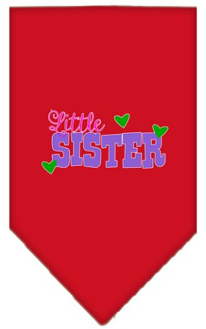 Little Sister Screen Print Bandana Red Small