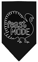 Feast Mode Screen Print Bandana Black Small