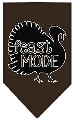 Feast Mode Screen Print Bandana Cocoa Small