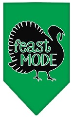 Feast Mode Screen Print Bandana Emerald Green Small
