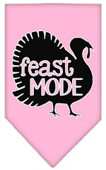 Feast Mode Screen Print Bandana Light Pink Small