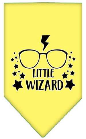 Little Wizard Screen Print Bandana Yellow Large