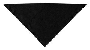 Plain Bandana Black Large