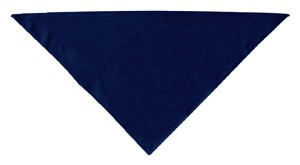 Plain Bandana Navy Blue large