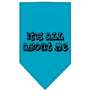 It's All About Me Screen Print Bandana Turquoise Large