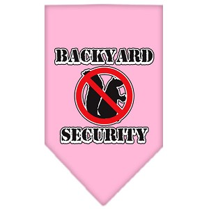 Backyard Security Screen Print Bandana Light Pink Large