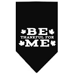 Be Thankful for Me Screen Print Bandana Black Small