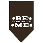 Be Thankful for Me Screen Print Bandana Cocoa Small