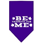 Be Thankful for Me Screen Print Bandana Purple Small