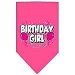 Birthday girl Screen Print Bandana Bright Pink Small