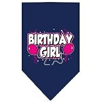 Birthday girl Screen Print Bandana Navy Blue Small