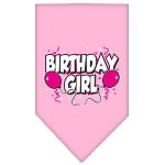 Birthday girl Screen Print Bandana Light Pink Small