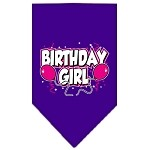 Birthday Girl Screen Print Bandana Purple Small