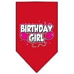 Birthday girl Screen Print Bandana Red Small