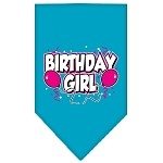 Birthday girl Screen Print Bandana Turquoise Small
