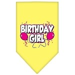 Birthday girl Screen Print Bandana Yellow Small
