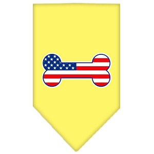 Bone Flag American Screen Print Bandana Yellow Small