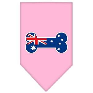Bone Flag Australian Screen Print Bandana Light Pink Small