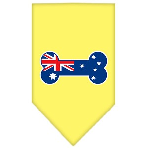 Bone Flag Australian Screen Print Bandana Yellow Large