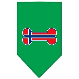Bone Flag Norway Screen Print Bandana Emerald Green Large