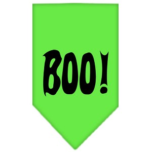 Boo! Screen Print Bandana Lime Green Large