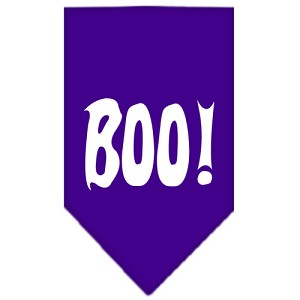 Boo! Screen Print Bandana Purple Large